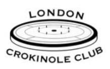 London Crokinole Club logo. Photo Credit: London Crokinole Club